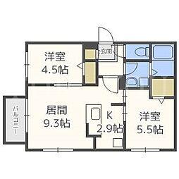 Eclat une maison[4階]の間取り