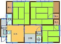 [一戸建] 鳥取県米子市上福原5丁目 の賃貸【/】の間取り