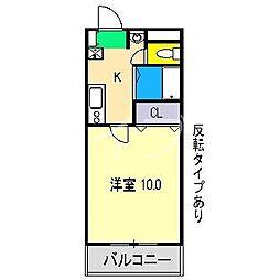 カルテットメナー[1階]の間取り