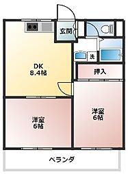 サンハウス865階Fの間取り画像