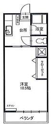コーポエイコー[2階]の間取り