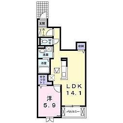 菖蒲町菖蒲アパート[1階]の間取り