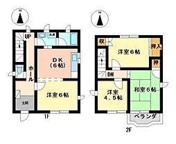 [一戸建] 愛知県名古屋市西区比良3丁目 の賃貸【/】の間取り