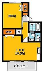 メゾンシャルマン 36 A[2階]の間取り