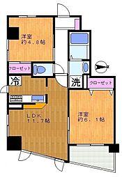 神奈川県川崎市多摩区菅2丁目の賃貸マンションの間取り