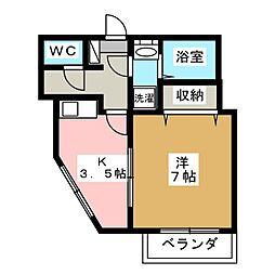 fビル東山[6階]の間取り