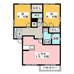 郁李苑シマ D棟[2階]の間取り