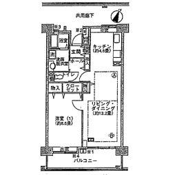 幕張ベイタウンミラマール[1-210号室]の間取り