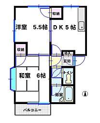増田ハイツ[B201号室]の間取り