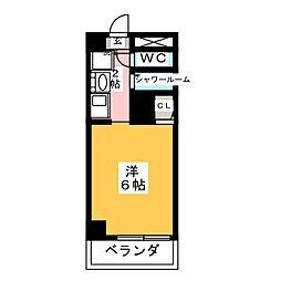 MINEX浅間町[4階]の間取り