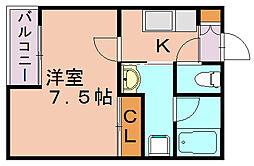 マイプレイス竹下[2階]の間取り