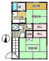 矢澤荘[2階]の間取り