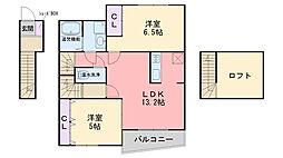 福岡県糸島市前原南2丁目の賃貸アパートの間取り