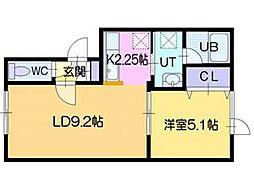 メゾンプリオールII[3階]の間取り