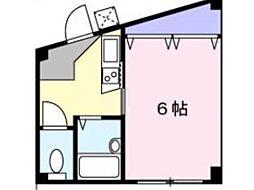 コスモ生田[3階]の間取り