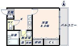 大阪府東大阪市足代北2丁目の賃貸マンションの間取り