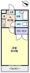 パレスオリーブB[2階]の間取り