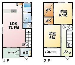 千葉県茂原市法目の賃貸アパートの間取り