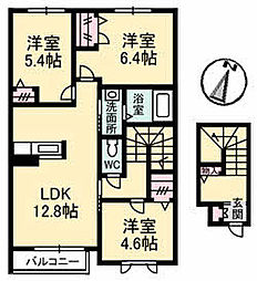 広島県呉市広両谷2丁目の賃貸アパートの間取り