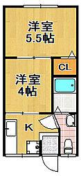 赤沢マンション[1階]の間取り