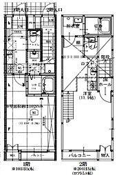 仙台市営南北線 台原駅 徒歩3分の賃貸アパート 1階1Kの間取り