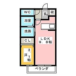 フォレスト見川 B[1階]の間取り