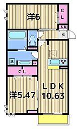 (仮)D-room伊興本町FB棟[303号室]の間取り