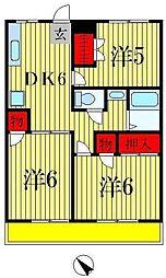 カサベルデ戸山 B棟[2階]の間取り