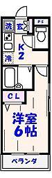 本八幡レジデンス(E67)[101号室]の間取り