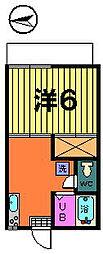 第二カトレアハイツ[2−B号室]の間取り