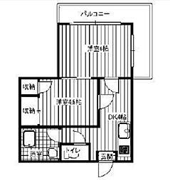 第二ミカドマンション[3階]の間取り