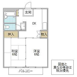 薄井マンション A棟[105号室号室]の間取り