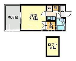 セトウル福田[2階]の間取り