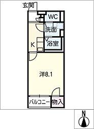 クレイノグローリー II[1階]の間取り