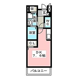 ハイツオウカン[2階]の間取り