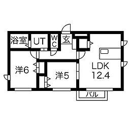 Le pivot[1階]の間取り