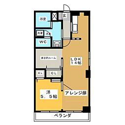 緑ヶ岡マンション[3階]の間取り