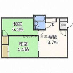 ラポール37A[1階]の間取り