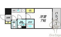 レジュールアッシュ梅田北[10階]の間取り