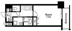 アーバンパーク梅田ウエスト 12階1Kの間取り