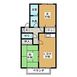 コンフォートM[1階]の間取り