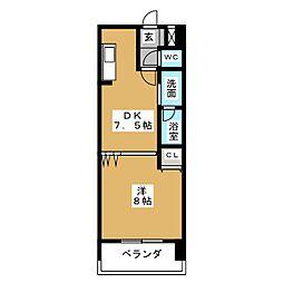 サンモール菊井[4階]の間取り