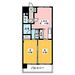 アジリア博多イースト[9階]の間取り