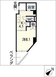 グランデール八筋[5階]の間取り