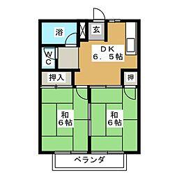 パレス3.1 A棟[1階]の間取り