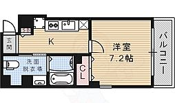 ロイヤルメゾン宝塚 6階1Kの間取り