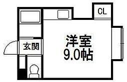 メゾワール裏参道[203号室]の間取り