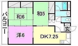 平岡マンション[201 号室号室]の間取り