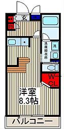 埼玉県川口市並木1-の賃貸マンションの間取り