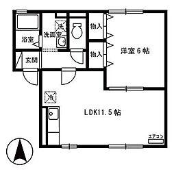 グランモア田尻沢[2階]の間取り